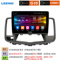 LEEWA 10.1 Android 8.1 8 Core/DDR3 2G/32G/Support 4G LTE Car Media Player With GPS/FM/AM RDS For Nissan Teana 2008 2012