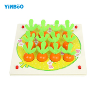 New Memory Wood Match Funny Wooden Radish Chess Game Toy Montessori Educational Block Toy Birthday Gift For Children Casual Game