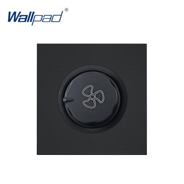 Wallpad Luxury Fan Switch Speed Regulator  Outlet Function Key For Wall White And Black Plastic Module Only