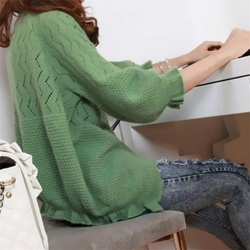 Casual rainbow sweater long sleeve women sweaters cardigans spring winter tops for women knitted jumper plus size women clothing