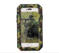 Водонепроницаемый противоударный алюминиевый Gorilla металлической крышкой ca s e для apple iphone Модель S 4 4 S 5 5 S SE 6 6S 6/6S 7 Plus + закаленное gla s