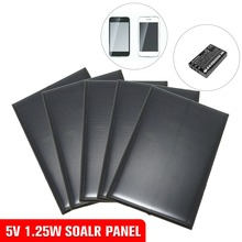 5pcs kit 5V 1.25W Monocrystalline Solar Panels Charger Epoxy Module kits Mini Solar Cells For Charging Cellphone Battery