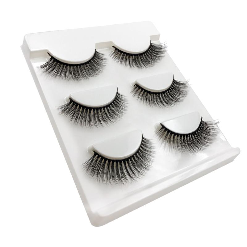 1 Box Natural Long 3D Mink Lashes Handmade False Eyelashes Wispy Mink - Makeup - Photo 5
