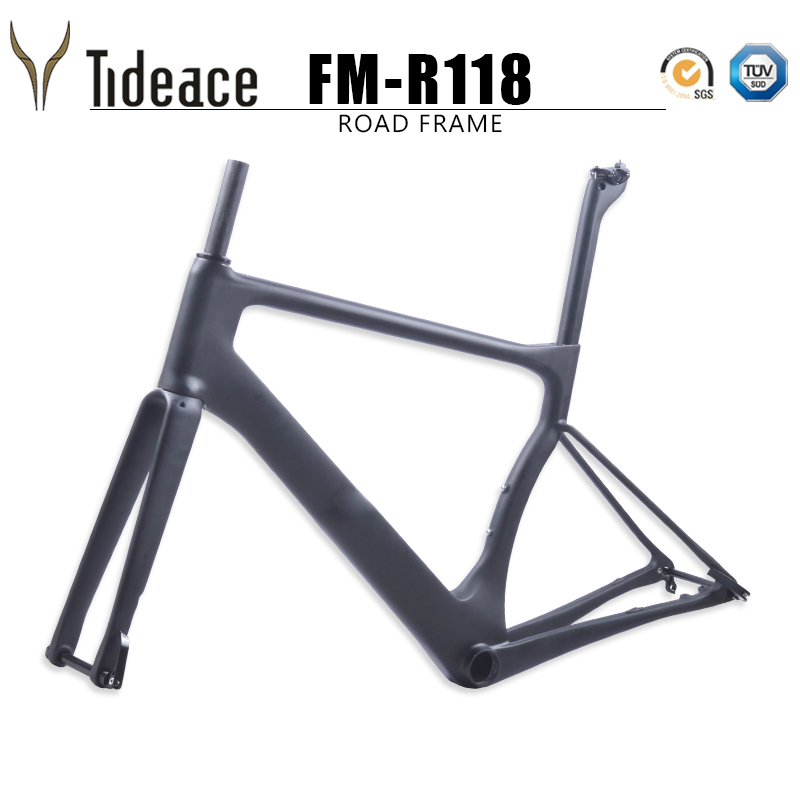 2018 carbon fiber racing super light UD carbon road bike frame 140m disc brake bike frameset carbon fiber bicycle frame S/M/L/XL 2018 t800 full carbon road frame ud bb86 road frameset glossy di2 mechanical carbon frame fork seatpost xs s m l og evkin