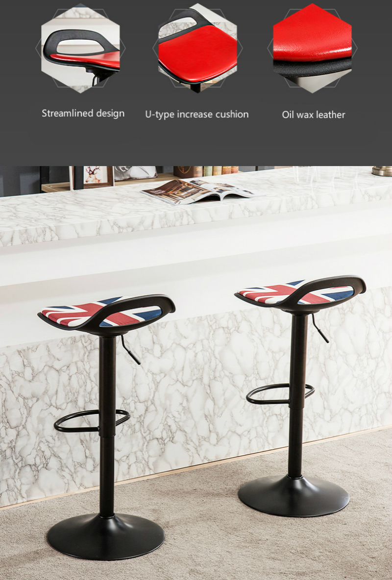 Bar Chairs Household High Stool Lift And Rotating Bar Chair Modern Simple Popular Style Continental Increase Chassis Stable And Comfortable