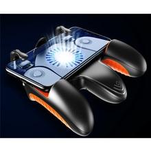 ذراع تحكم للهاتف المحمول PUBG مبرد بمروحة تبريد للوحة تحكم يعمل بنظام تشغيل iOS وأندرويد زر تشغيل النار PUBG الطرفية 16 طلقة/ثانية