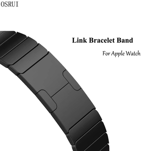 Image 2 - Link Bracelet watchband for apple watch band strap 5 4 iwatch 42mm 38mm 44mm 40mm 3 2 pulseirac stainless steel smatwatch belt
