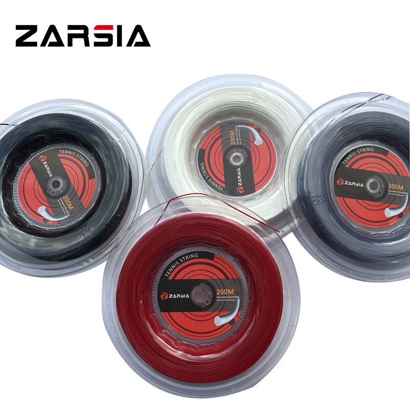 ZARSIA ZA-88 Topspin Tennis Racket String Tennis Racquet hexagon Strings 1.23MM 200M big banger zarsia 200m flash nylon tennis string 16g 1 35mm multifilamen tennis rackets string squash strings synthetic tennis strings