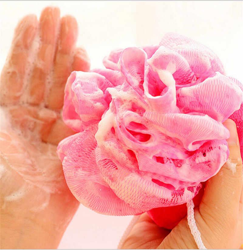 Esponja colorida de frutas, esponja para banho, para spa, limpeza corporal, para baixo do corpo, limpeza aleatória, 1 peça cores