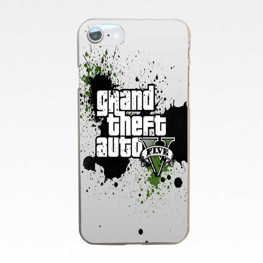125DF Grand Theft Auto GTA V Жесткий прозрачный чехол для iphone 4 4s 5 5s se 6 6s 8 plus 7 7 Plus X