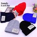 2016 New Casual Men Women's Winter Hats Knitted Caps Fashion Black Blue Red Beanie Winter Hats for Women Bonnet Femme Sale 003