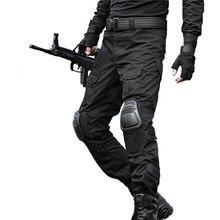 Тактические штаны Военные Брюки карго Мужские наколенники спецназ армейская страйкбольная камуфляжная одежда Охотник полевые боевые брюки Лесной