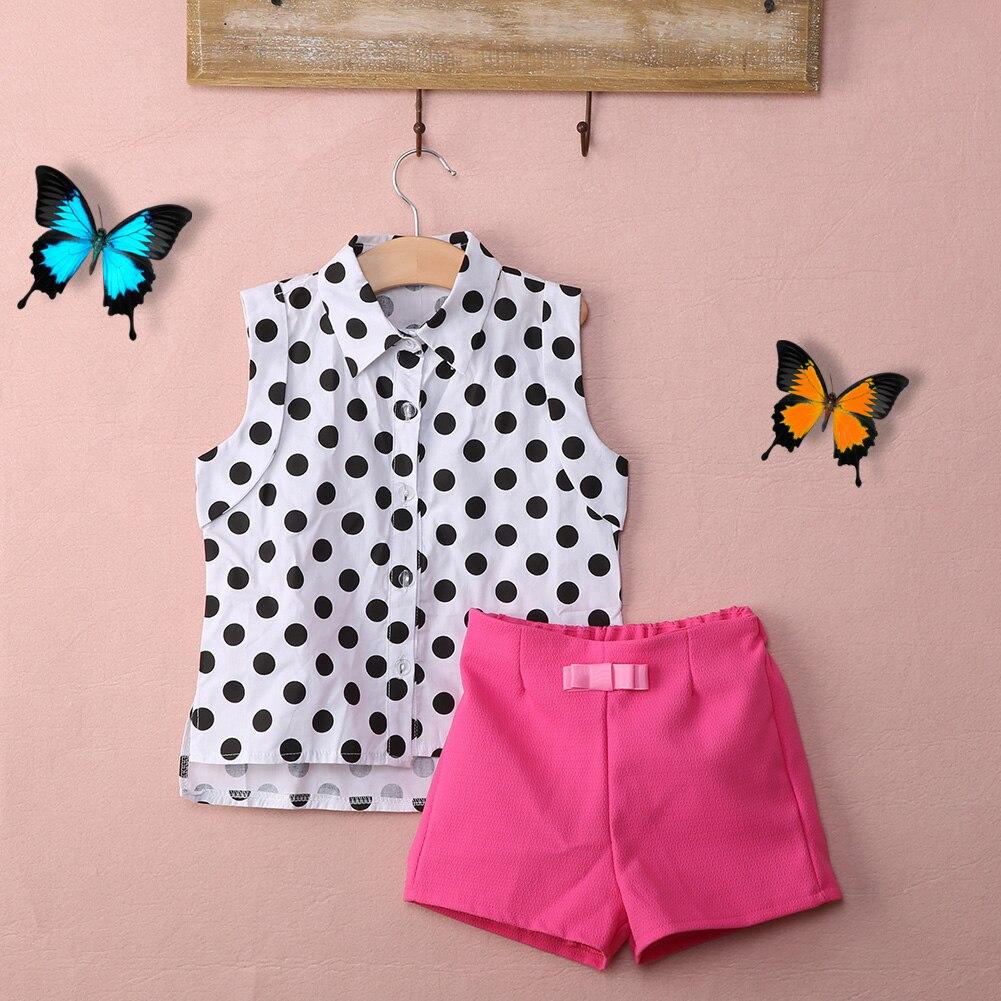 Nuevo verano que arropan la ropa del bebé del lunar coat + Pink pantalones ropa de bebé