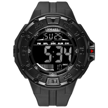 Men's Sports Watches SMAEL Brand Military Wrist Watch For Men Waterproof Sports Black Waches Digital Clock Relogio Masculino image