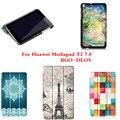 CY Моде Цветные Симпатичные Рисование Искусственная Кожа Стенд Case Книга крышка Корпуса Чехлы Для Huawei MediaPad T2 7.0 BGO-DL09 Tablet ПК