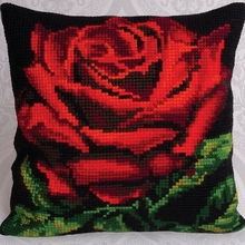 Charming Floral Bright Cotton DIY Cross Stitch Pillowcase