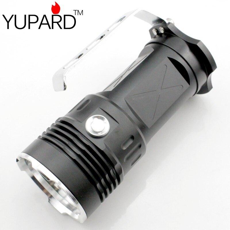 YUPARD 3 * XM-L2 LED Super Bright Spot Projecteur de Poche super T6 LED Haute Puissance lampe de poche 18650 batterie rechargeable