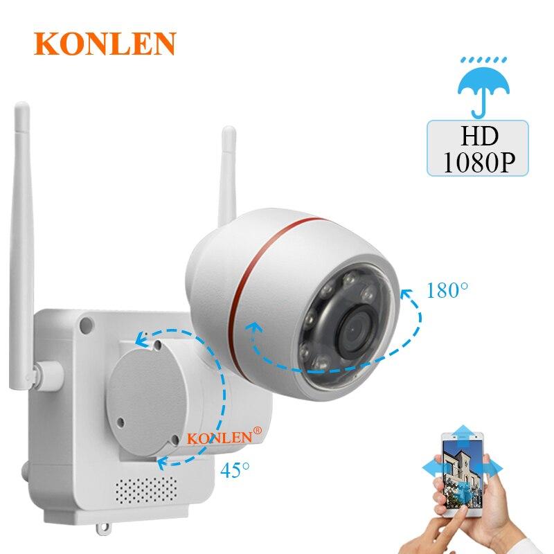 KONLEN WIFI 1080P Outdoor IP Camera Pan Tilt Bullet Cam YCC365 Wireless Wired HD 2MP CCTV