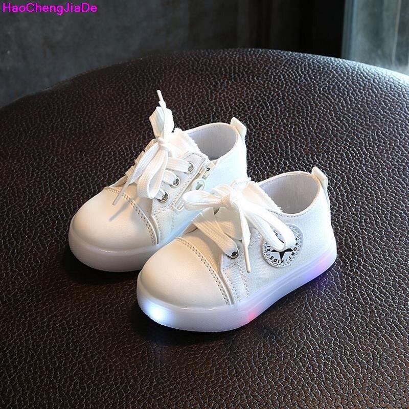 best service 760b9 bcd41 HaoChengJiaDe Mode Baby Sneaker Jungen Mädchen Led Schuhe Kinder  Laufschuhe-Sneaker Kinderschuhe Mit Beleuchtung Schuh EU 21-30