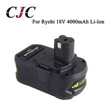 Eleoption 18V 4000mAh Li Ion High Capacity Rechargeable Battery Pack Power Tool Battery For Ryobi P108