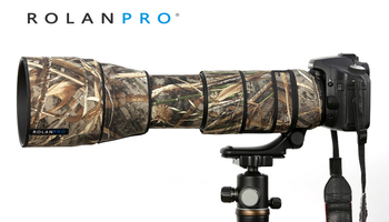 ROLANPRO Waterprof Lens Coat for Tamron SP 150-600mm F/5-6.3 Di VC USD G2 A022 Protective Case Guns Camouflage Protection Sleeve