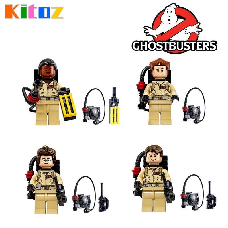 Kitoz GhostBuster Raymond Stantz Peter Venkman Action Figure Building Block Toys Model Bricks Compatible with lego for kids lego cazafantasmas aliexpress