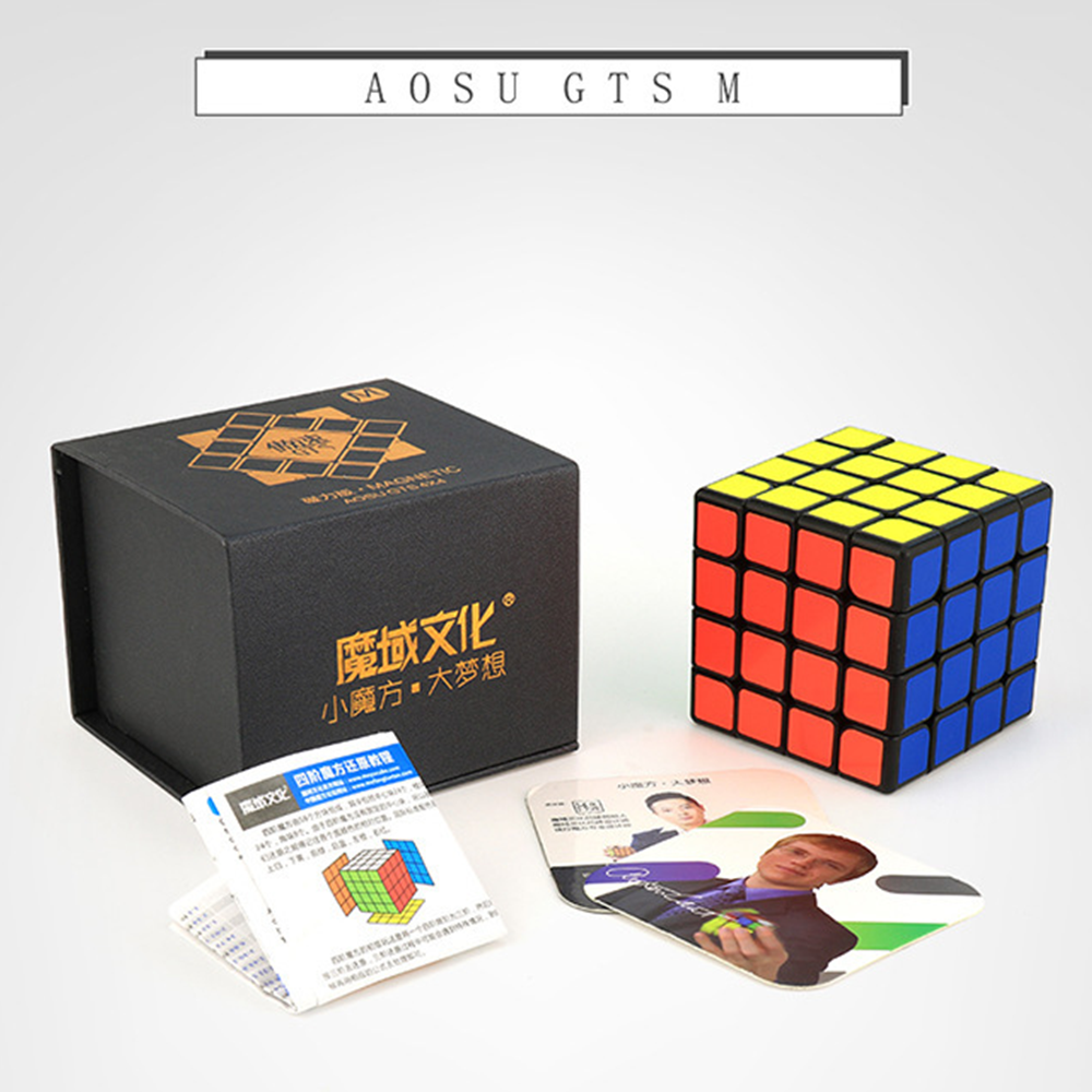 Moyu Aosu GTS M 4x4x4 Cube Magnetic Speed Puzzle 62mm Cubo 4x4 For Professional Competition WCA