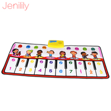 Jenilily 100x40cm  Piano Touch Music Mat Baby Musical Mat Children Game Pad Doodle Note Singing Kids Toys for Baby JN2305