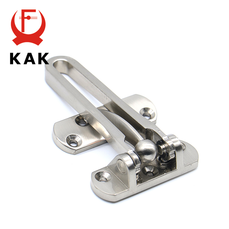 KAK Zinc Alloy Hasp Latch Lock Door Chain Anti-theft Clasp Window Cabinet Locks Tools For Home Hotel Security Door Lock Hardware thick anti theft security door lock window padlock bolt chain locks for wooden metal door furniture accessories hardware