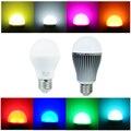 LEVOU RGBW lâmpada 6 W/9 W base E27 Milight AC85-265V 16 milhões de cores em mudança levou lâmpada bolha mágica lâmpada