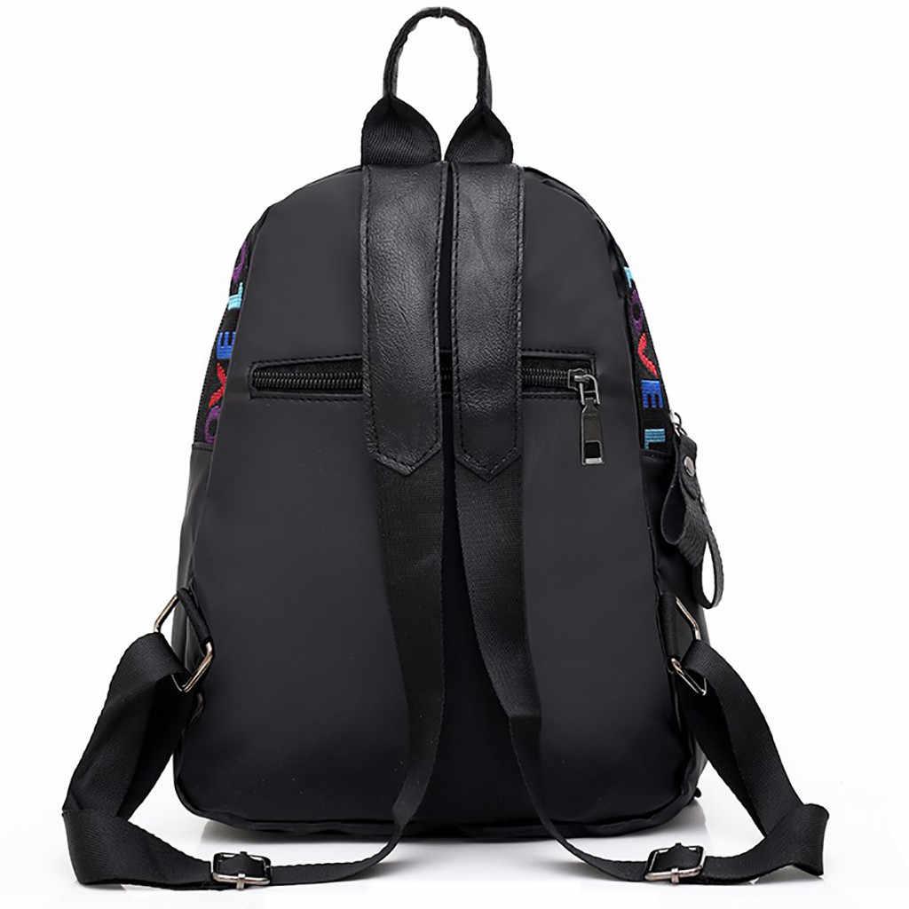 النساء أكسفورد القماش الظهر البرية الأزياء عارضة حقيبة طالب حقيبة السفر بلون سستة الشارع الشهير حقائب كتف # P5