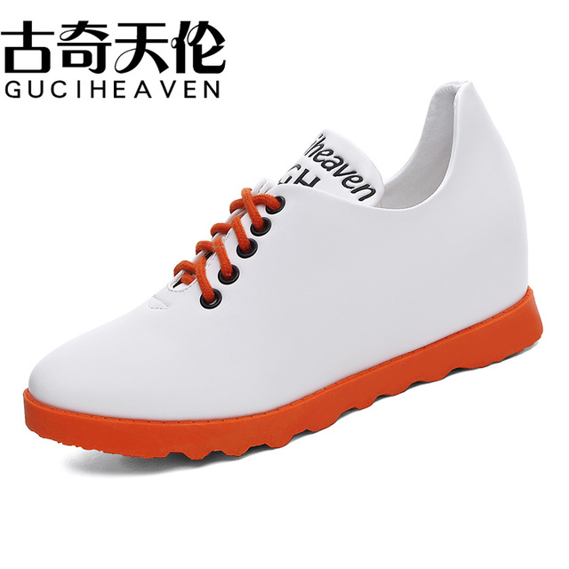 a8f9c2399d0 Guciheaven Autumn spring new lace-up leather women flat white shoes pointed  toe deep mouth soft bottom leisure flat shoes woman