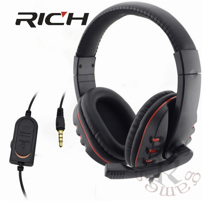 Wired 3.5mm gaming Headset Headphone Earphone Music Microphone For Gamer PS4 Play Station 4 Game PC Chat fone de ouvido