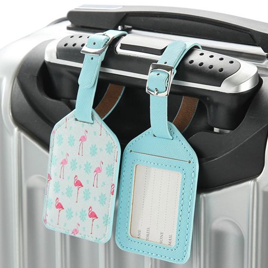 Zoukane Printing Suitcase Leather Luggage Tag Label Bag Pendant Handbag Travel Accessories Name ID Address Tags LT04