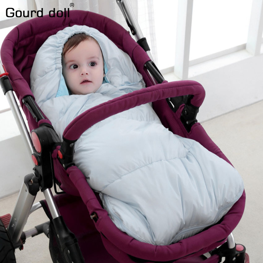 Baby infant winter wrap sleepsack as envelope for Newborn Stroller sleeping Bags With Glove Infant Winter blanket & swaddling