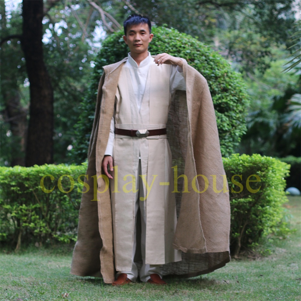 Cosplay Star Wars The Last Jedi Luke Skywalker Costume Star Wars Costume Jedi Costume Halloween Full Set Cos (3)