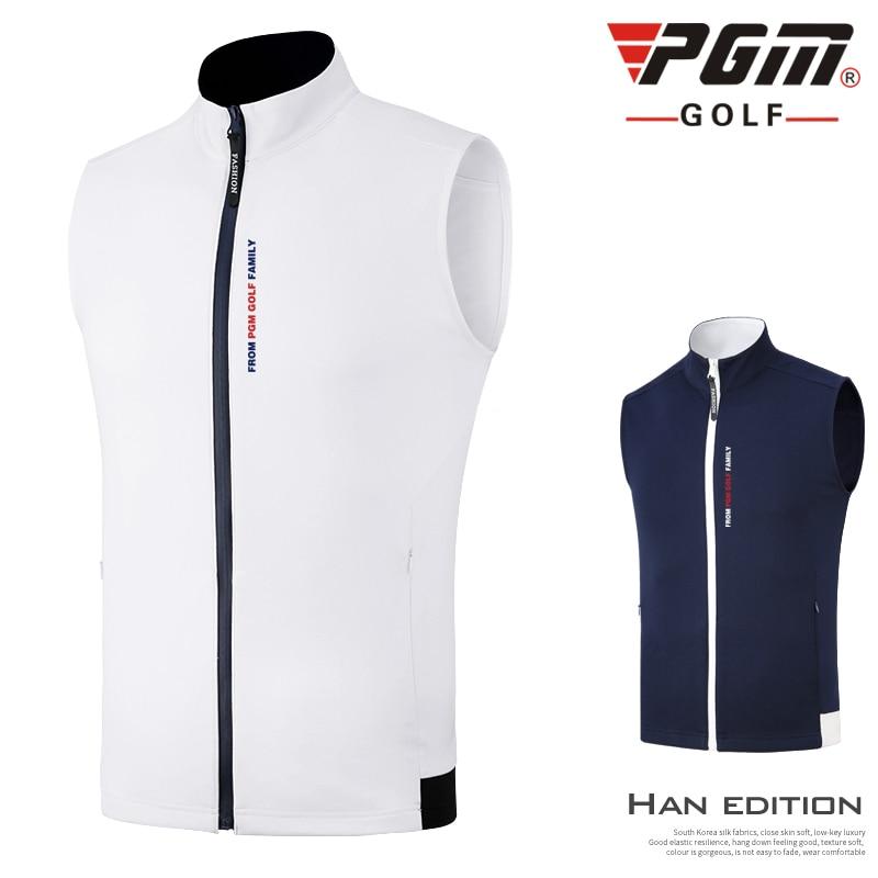 Pgm Men Windbreaker Vest Clothes Outdoor Sports Golf/Tennis Sleeveless Jackets Men'S Fall Winter Windproof Jacket D0904