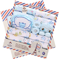 100% Cotton Newbron Gift Set Summer Baby Girls Clothing Sets Long Sleeve Character O-Neck Baby Boys Clothing Sets Fit 0-12Month