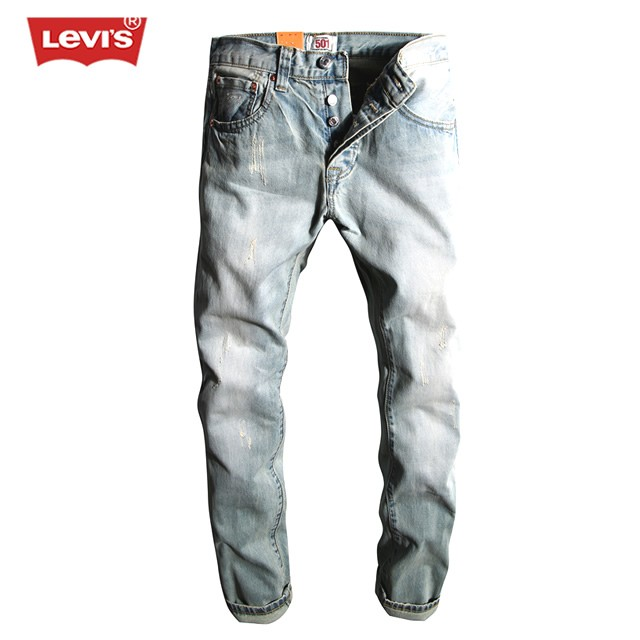 Levi's 501 Series Men Jeans Washed Bleached Scratched Pleated Denim Long Pants Casual Straight Trousers Women Mens Fashion SD10 мойка кухонная franke pamira rbn 610 сталь 101 0457 443
