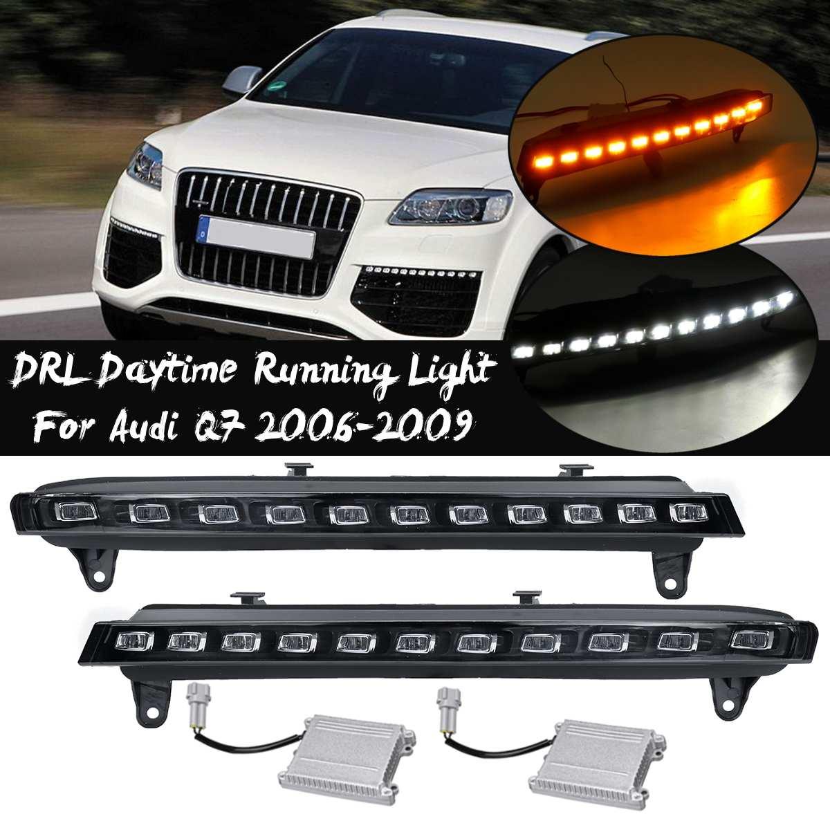 Clignotant LED de pare chocs avant pour Audi Q7 2006 2009 phare antibrouillard feux diurnes Drl clignotant accessoires de phares