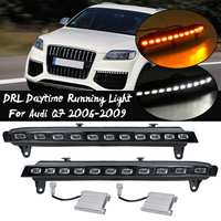 Front Bumper Led Turn Signal Light For Audi Q7 2006 2009 Fog Light Lamp Daytime Running Light Drl Blink Headlight Accessories