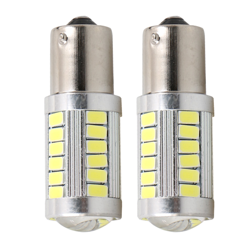 BAU15S <font><b>PY21W</b></font> 1056 1156PY 150 Degree 33 SMD 5630 <font><b>LED</b></font> <font><b>Orange</b></font> Auto Turn Signal Lamp Yellow Amber 33 SMD 5730 <font><b>LED</b></font> Car Light Source image