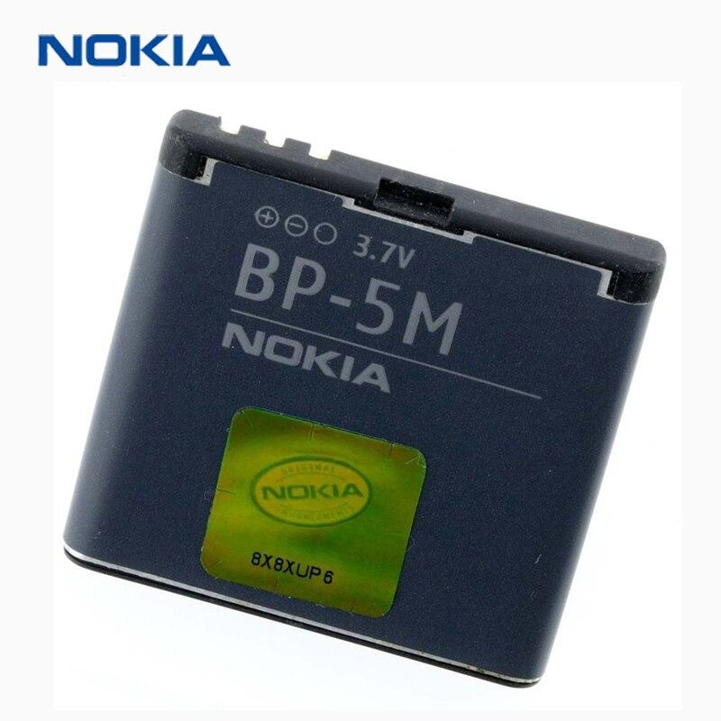 Original Nokia BP-5M telefon batterie für Nokia 6220 Klassische 6500 Rutsche 8600 Luna 6110 Navigator 5610 5700 6500 s 7390