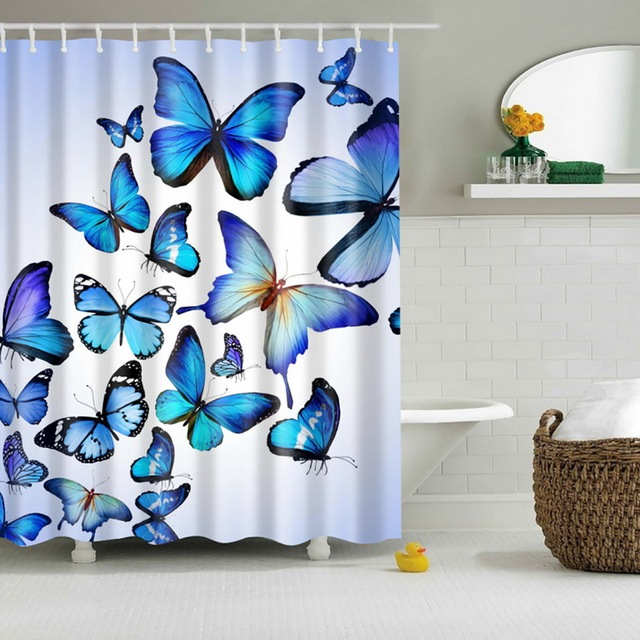 Modern Designer Feminine Decor Dreamy Folklore Shower Curtain Fairy Angel Wings Fae Home Accent Soft