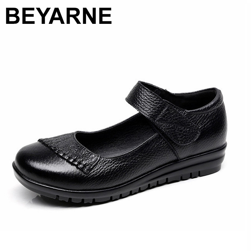 New Handmade Genuine Leather Women's Ballet Flat Shoes Female Casual Loafers Woman Comfortable Car-Styling Shoe Mom Walking Shoe балетки car shoe