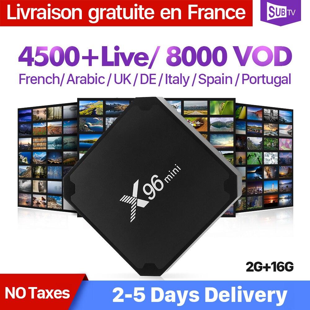 X96 mini Full HD prantsuse IPTV BOX Android 7.1 2G 16G koos SUBTV - Kodu audio ja video - Foto 1