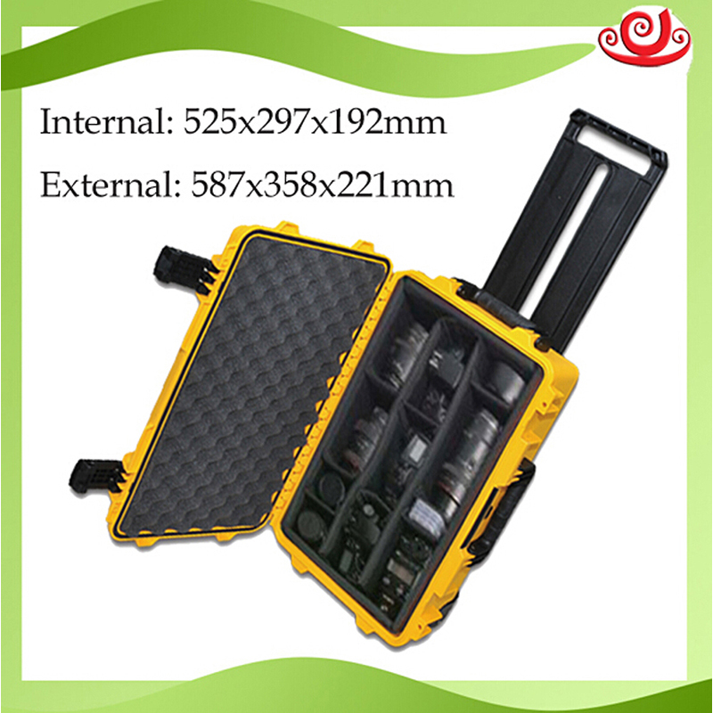 High Quality Waterproof Tool Case Toolbox Trolley Sealed Photographic Shipping Instrument Camera Case With Pre-cut Foam