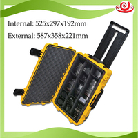 high quality waterproof tool case toolbox trolley Sealed Photographic shipping Instrument camera case with pre cut foam