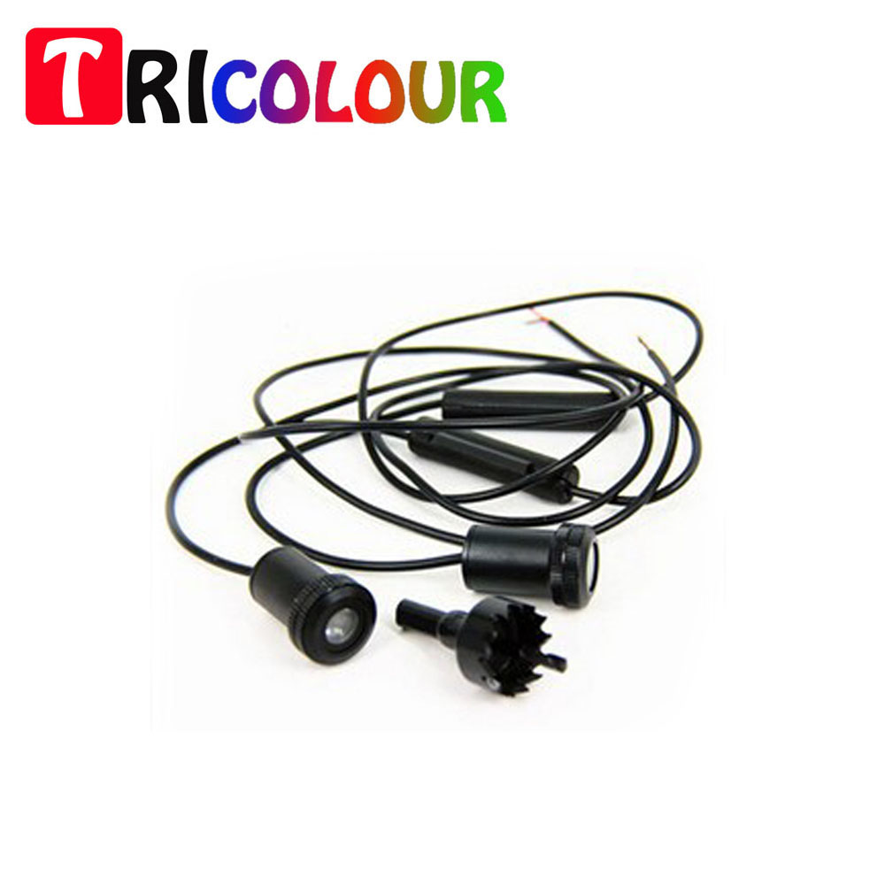 TRICOLOUR Wireless Mini Car Door LED projector Welcome Shadow Light Laser Cool FOR Universal 2015 Hot sales free shipping #ZS006