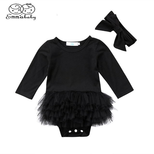 38cbee873b2 Emmababy Toddler Newborn Baby Girl Tulle Long Sleeve Lace Tutu velvet Romper  Jumpsuit Outfit Clothes Headband